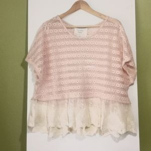 California Moon Rise Nomad Art House Top w Lace